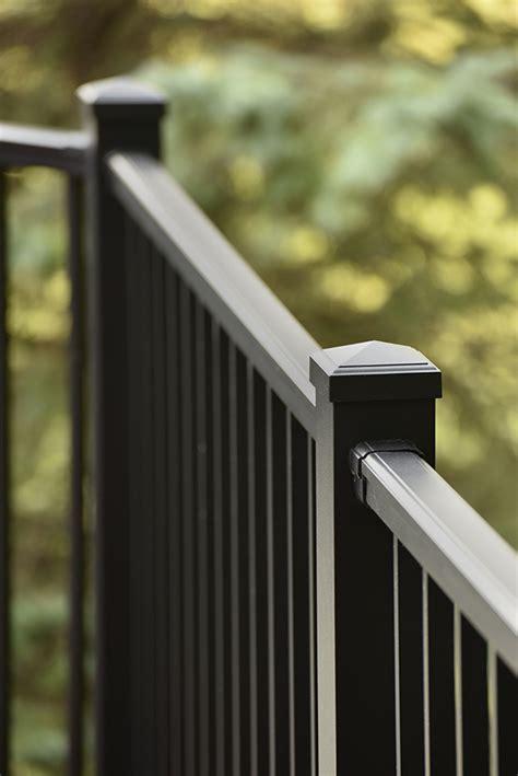 impression rail aluminum deck railing system timbertech europe