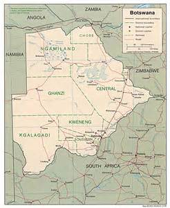 Botswana (Political) 1995 (385K) and pdf format (388K) Botswana