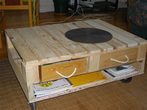 meuble en bois avec palette