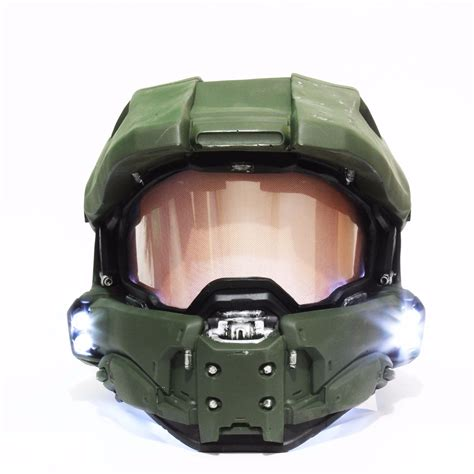 Casco Jefe Maestro Halo 4 Master Chief Con Luces Difraz