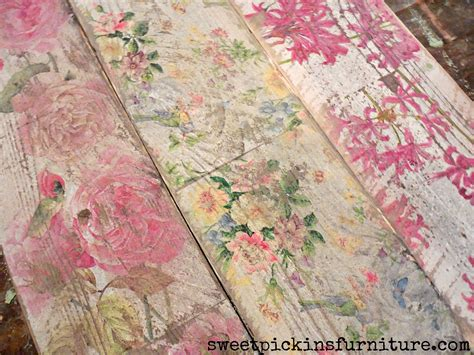 floral wood tutorial  napkins decoupage