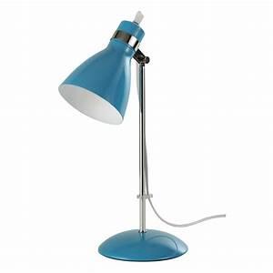 Lampe De Bureau Fille : lampe de bureau en m tal bleu h 38 cm pix maisons du monde ~ Dailycaller-alerts.com Idées de Décoration
