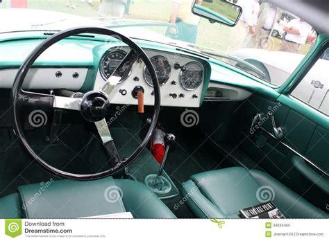 Classic Sports Car Interior Dials Editorial Image