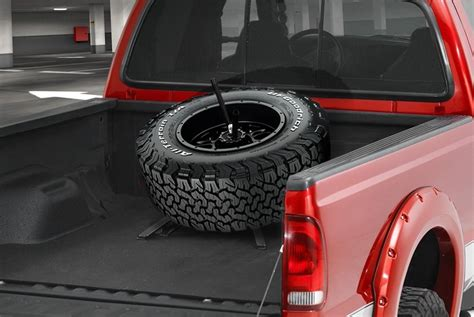 Truck Bed Spare Tire Carrier by Truck Bed Mounted Spare Tire Carriers Carid
