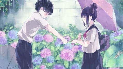 Anime Flower Wallpaper - anime boy giving flowers to hd wallpaper wallpaper