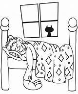 Sleeping Coloring Boy Pages Bedroom Drawing Child Sleep Boys Sleepy Printable Kid Bed Dream Cartoon Buildings Architecture Bear Sheets Asleep sketch template
