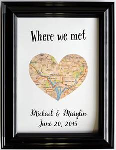 custom wedding anniversary gift for couples personalized map With personalized wedding anniversary gifts