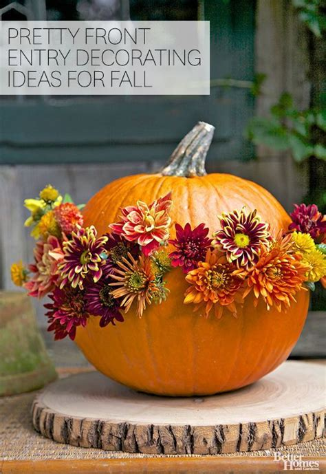 pretty front entry decorating ideas for fall gardens