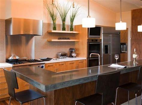 cocinas modernas  encimera de cemento
