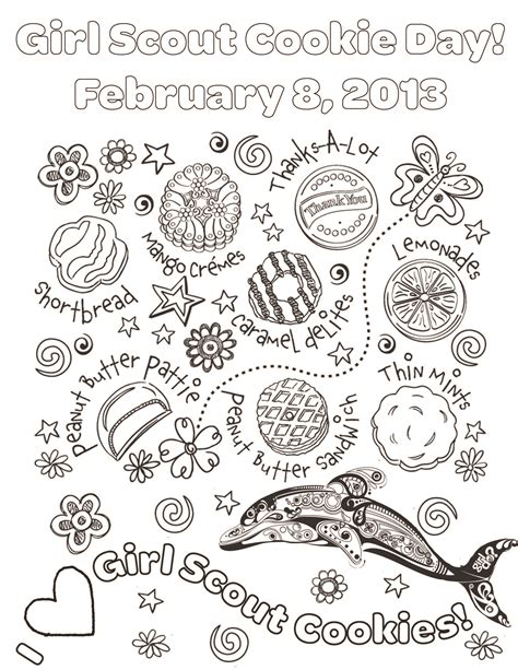 Girl Scout Cookie Coloring Pages Printable