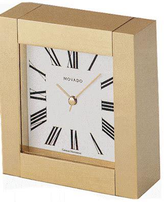 Movado Desk Clock Engraved by Movado Square Brass Clock