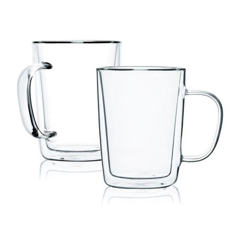And 15 oz.) and are. JavaFly Double Wall Glass Mugs, Coffee Mugs, Tall Cups With Handle (Set of 4)-CE1007171-B020002 ...