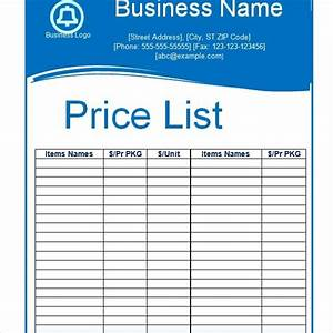 sample price list template 5 documents download in pdf With documents 5 price