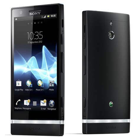 sony xperia p noir mobile smartphone sony sur ldlccom