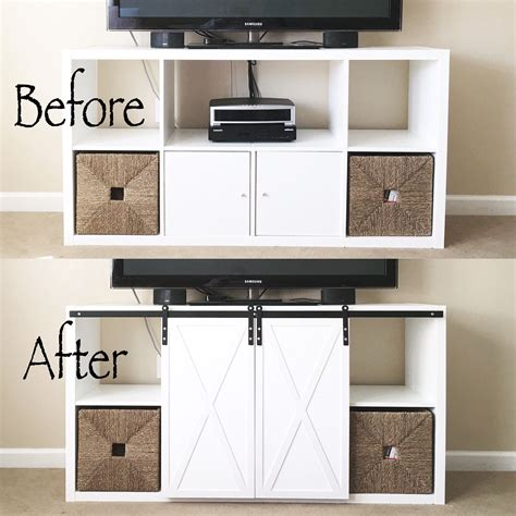 Kallax Ikea Hack by Before After Ikea Kallax Diy Barn Doors Diy Hardware