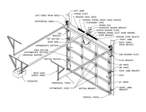 garage doors parts garage door diagrams
