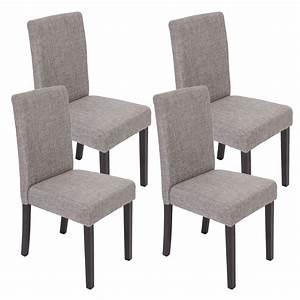 Esszimmerstuhl Grau Leder : 4x esszimmerstuhl stuhl lehnstuhl littau textil grau ~ Watch28wear.com Haus und Dekorationen