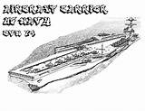 Coloring Carrier Pages Aircraft Navy Ship Cvn Template Battleship Naval Sheets American sketch template