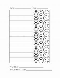 Smiley face behavior chart by third grade thoughts tpt tpt for Smiley face behavior chart template