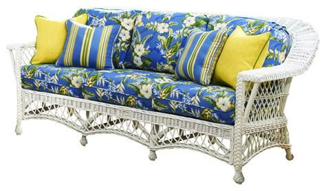bar harbor sofa  white jamaica mist fabric tropical