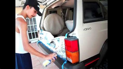 fix  car bumper  plasti dip youtube