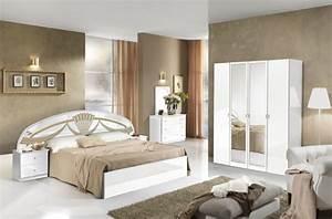 chevet athena chambre a coucher blanc With exemple de couleur de chambre