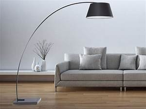 Lampadaire Design Luminaire Lampe De Salon Noir Benue