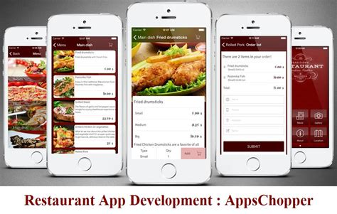 application android cuisine restaurant app development food ordering app