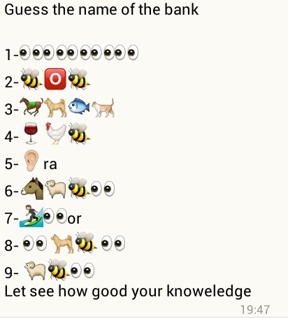 guess     bank whatsapp quiz puzzles world