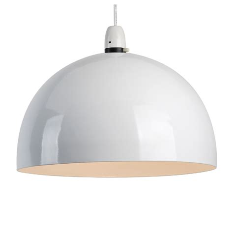 modern gloss white retro style metal dome ceiling pendant