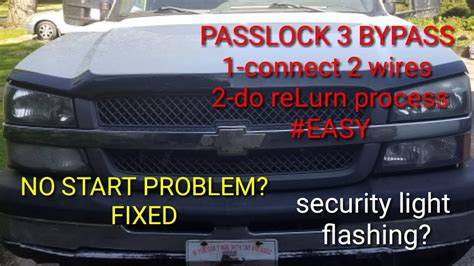 security system 1989 ford laser seat position control passkey 3 security system bypass no start issue chevy gmc 1500 2500 3500 youtube