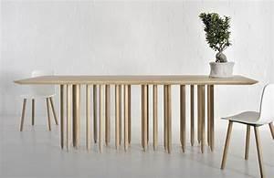Table Bois Massif Design : table design bois id es de d coration int rieure french decor ~ Teatrodelosmanantiales.com Idées de Décoration