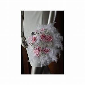 Bouquet De La Mariée : bouquet mari e blanc et rose plumes rotin colombes ~ Melissatoandfro.com Idées de Décoration