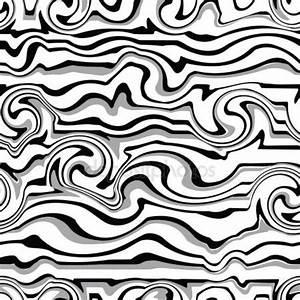 Seamless black-white wave pattern — Stock Vector #21851587