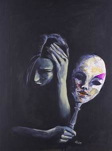 Saatchi Art: The Mask She Hides Behind Painting by Sara Riches