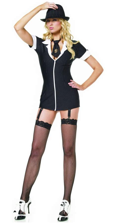 Gangsta Girl mafia gangster costume for women