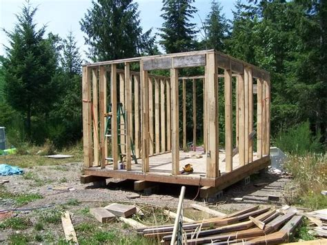 12x16 shed cabin w loft do it yourself for cottage