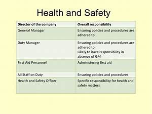 health and safety in fitness With health and safety statement of intent template