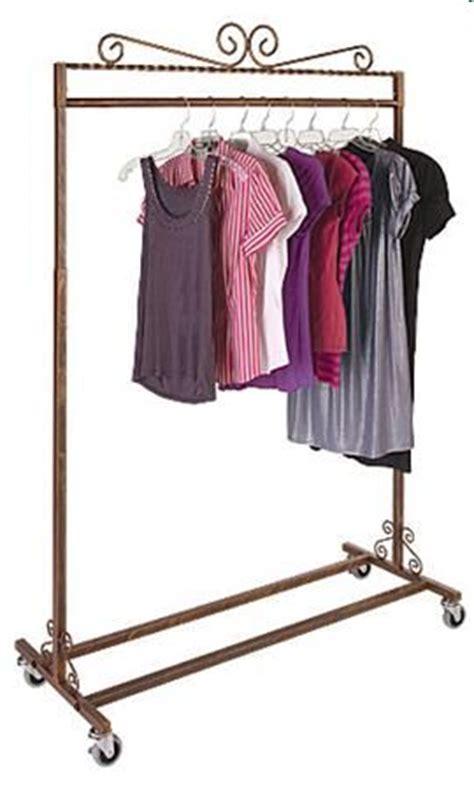 display garment rack decorative clothing rack rolling