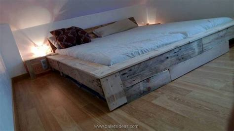 Pallet Bed Frame by Furniture Ideas With Shipping Pallets Pallet Ideas