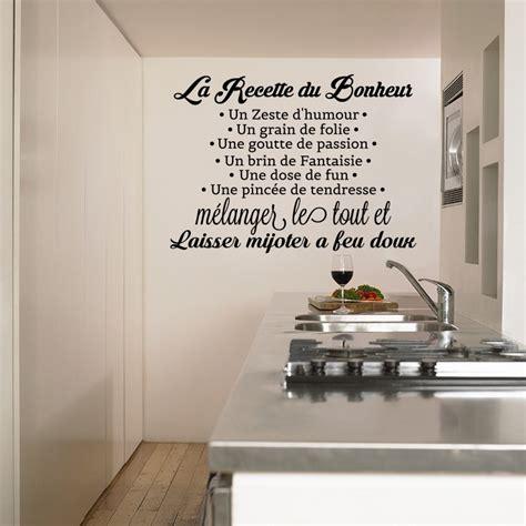cuisine du bonheur fr sticker la recette du bonheur stickers citation texte opensticker