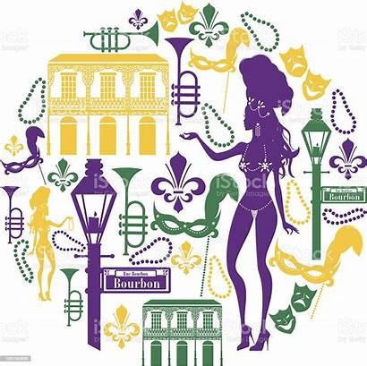 Orleans Vector Mardi Gras Icon Beads Illustration