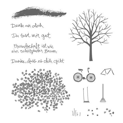 baum der freundschaft photopolymer stamp set german