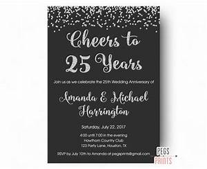 25th anniversary invitations printable 25th wedding With free printable 30th wedding anniversary invitations