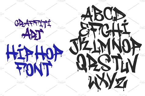 Graffiti Vector Font : Graffiti Black Tag Vector Font