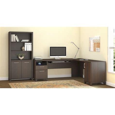 2 piece l shaped desk bush achieve 2 piece l shape desk office set in sweet