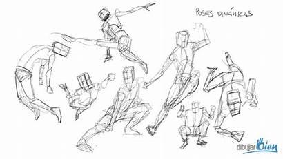 Poses Sketch Dibujar Dinamicas Anime Personas Aprender