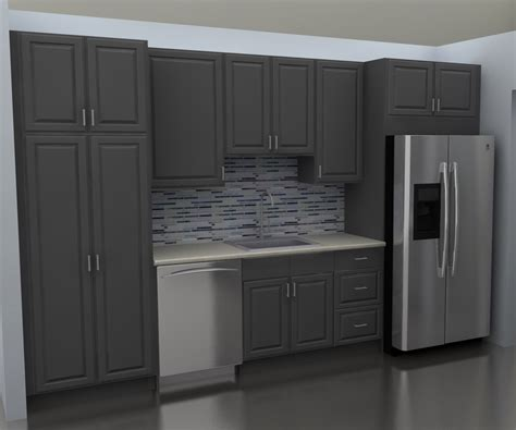 IKEA kitchen cabinets at sink wall