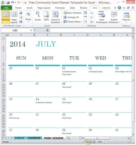 Community Events Calendar Template by Free Download Event Schedule Calendar Template Programs