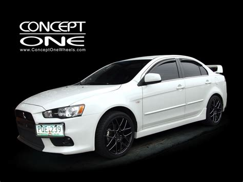 white mitsubishi lancer with black rims mitsubishi gallery